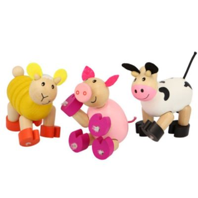 Flexi Farm Animals,wooden flexible animal toy,Wooden farm animals,farm animal toys,flexible wooden toys,fiddle toys